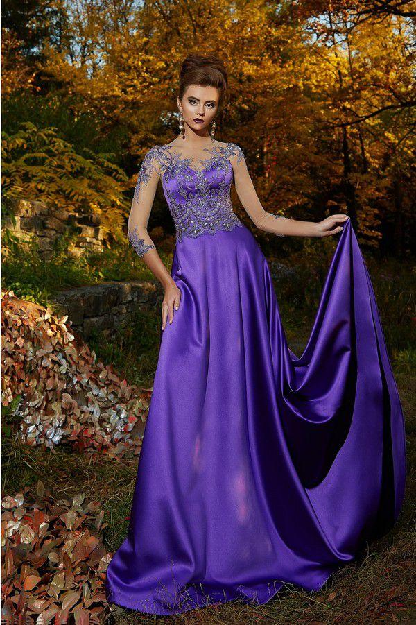 Торжественное вечернее платье насыщенного лавандового цвета подойдет для самых важных моментов в жизни.» – картка користувача Сергей С. у Яндекс.Колекціях