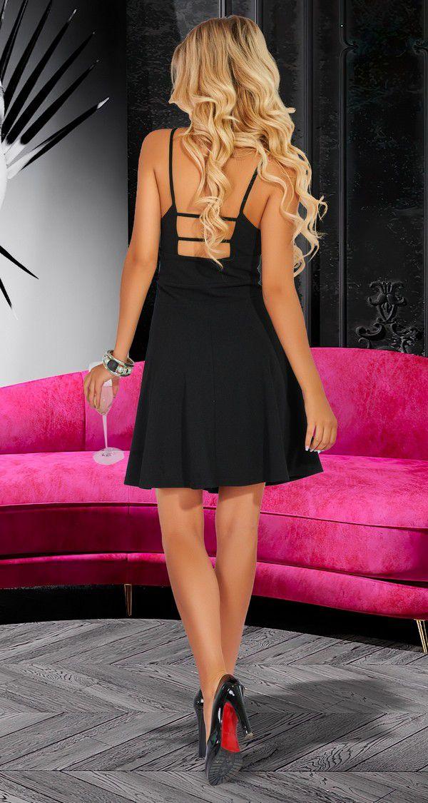 Женская одежда оптом Montella | Черное вечернее платье № 4550