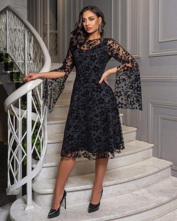 Чёрное вечернее платье, цена - 850 грн, #51114046, купить по доступной цене | Украина - Шафа