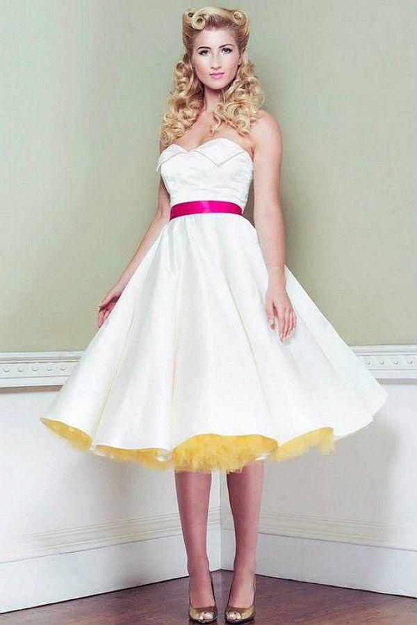 Свадебные платья в стиле пин ап: идеи и фотографии в хорошем качестве
