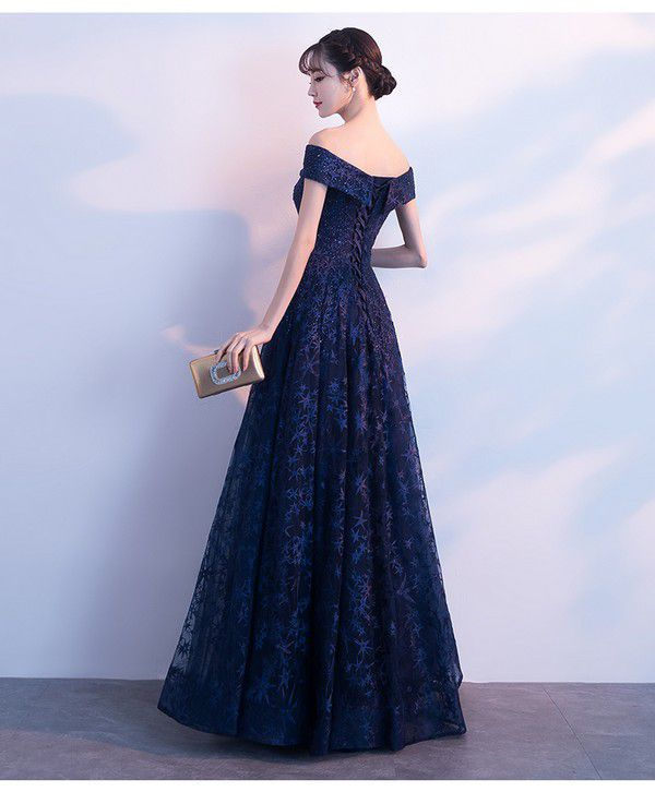 Cute Navy Blue Long Prom Dress, Party Dress 2020 · BeMyBridesmaid · Online Store Powered by Storenvy