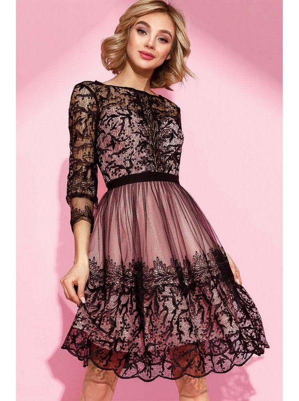 Вечернее платье с кружевом|Look Foxy