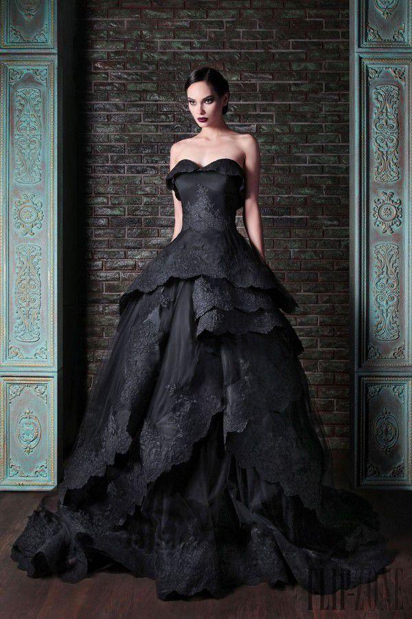 Черные свадебные платья: черно-белые, с черным кружевом, с красным | Платья, Свадебные платья, Вечерние платья