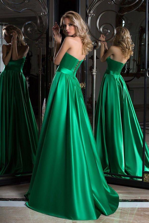 Вечерние зеленые платья, с какими цветами и аксессуарами стоит сочетать