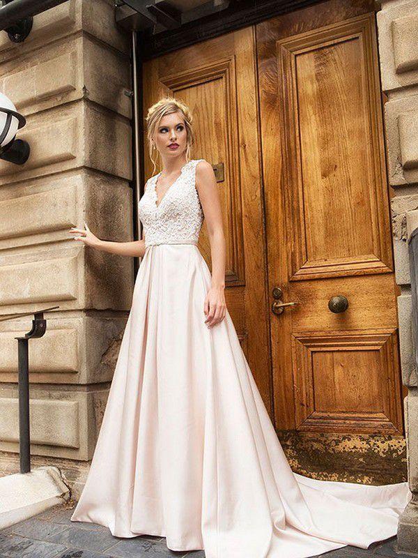 https://luvbridal.com.au/wp-content/uploads/2017/08/DOVE-2-lace-bodice-v-neck-wedding-dress-with-satin-skirt-wedding-dress-Luv-Bridal-Australia.jpg