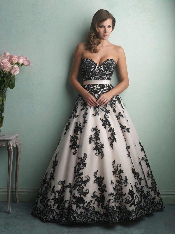 https://thebestweddingdresses.com/wp-content/uploads/2017/09/sweetheart-neckline-lace-black-and-white-wedding-dress.jpg