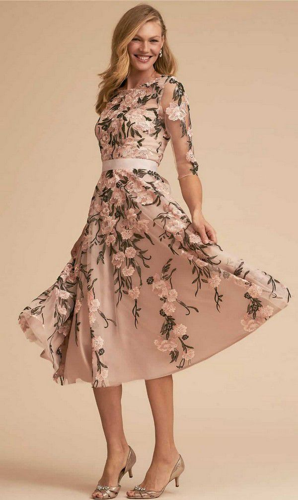 https://www.dressforthewedding.com/wp-content/uploads/2018/02/Tea-length-floral-dress-with-sleeves-for-mother-of-the-bride.jpg