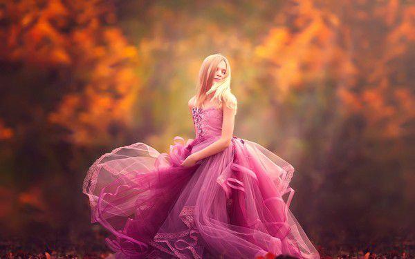 Картинка блондинка, розовое, вечернее, платье, осень 1920x1200 скачать обои на рабочий стол бесплатно, фото 145842