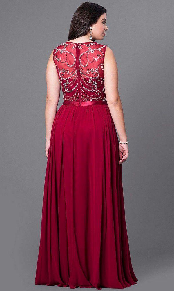 Beaded-Bodice Plus-Size Formal Dress with Shawl | Vestidos, Vestidos glamourosos, Vestidos estilosos
