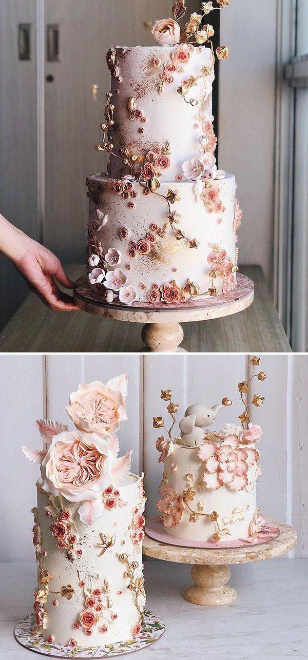 https://www.elegantweddinginvites.com/wedding-blog/wp-content/uploads/2020/09/beautiful-hand-painted-floral-wedding-cakes-with-foil-accents.jpg