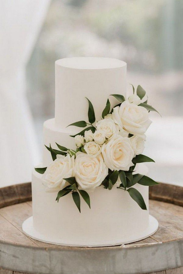 http://www.loveinconfetti.com/wp-content/uploads/2020/07/white-and-green-simple-wedding-cake-ideas.jpg