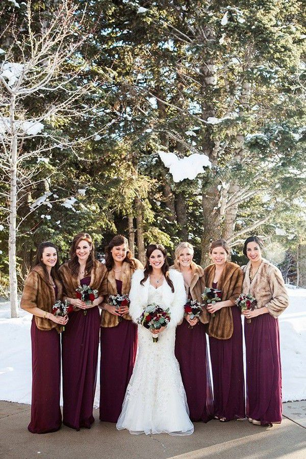12 Gorgeous Winter Wedding Trends for 2016 | Winter bridesmaid dresses, Winter wedding trends, Winter bridesmaids