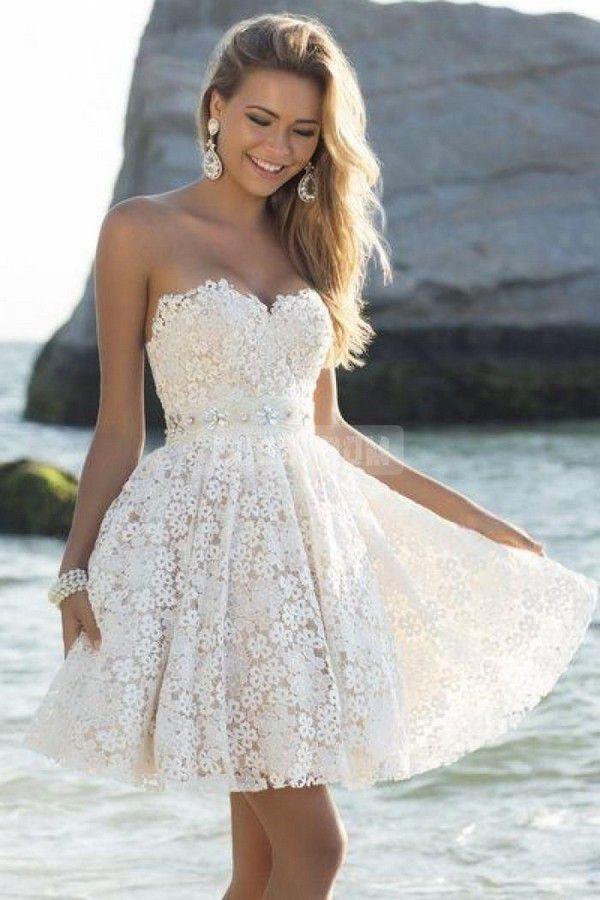 Lace Sash Beading Wedding Dress